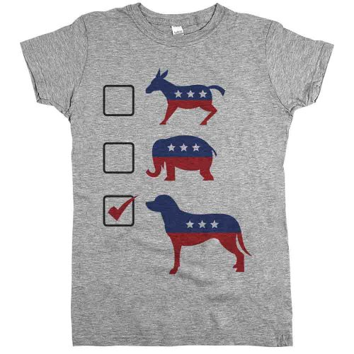 elections and dogs tshirt
